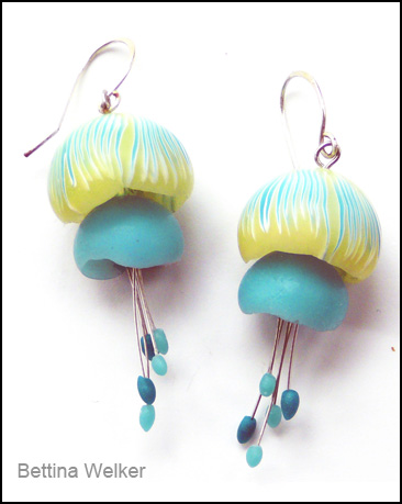 Jellyfish Earrings by Bettina Welker