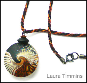 Wave pendant by Laura Timmins