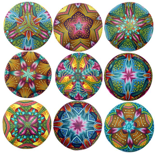 pendants 3 by 3  9in