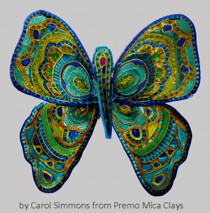 Caned butterfly by Carol Simmons