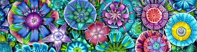 blue flower header